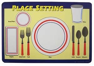 Table Setting Placemat  U2013 Craftbnb