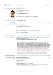 curriculum vitae word document cv europeo