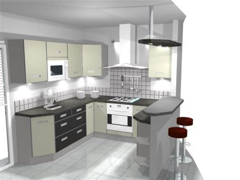 ilot cuisine moderne ambiance cuisine meubles contarin
