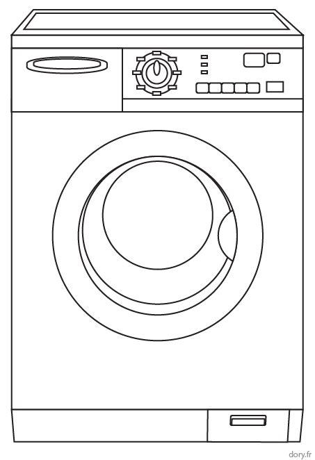 cuisine avec machine à laver coloriage à imprimer un lave linge dory fr coloriages
