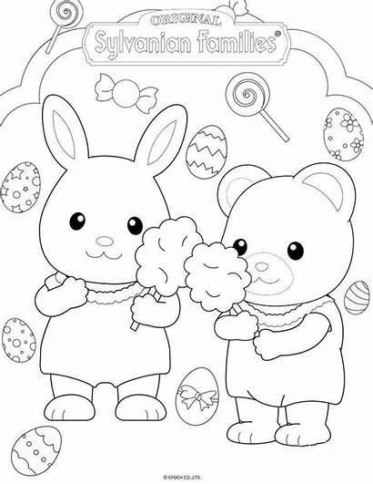 Sylvanian Families Coloriage Coloring Calico Easter Critters