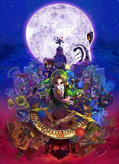 Majoras Mask 3d Posters By Steegomobile Redbubble