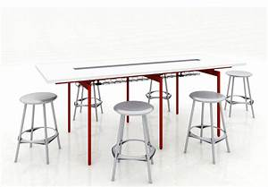 Antenna Workspaces Standing Height Table Arenson Office