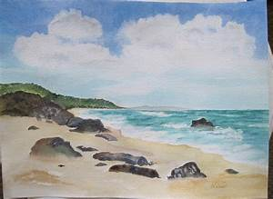 Rocky Beach | Watercolor on Arches 140 cp, 9x12. Reference ...