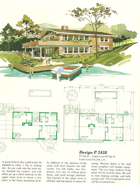vintage house plans vacation homes 2438 antique alter ego
