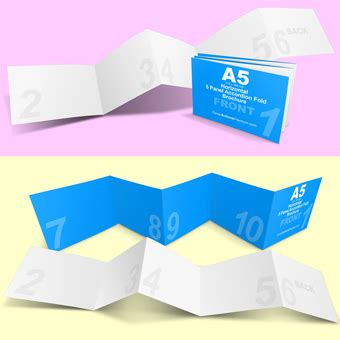 4 Panel A4 Roll Fold Brochure Mockup Cover Actions 4 Panel A4 Roll Fold Brochure Mockup Cover Actions