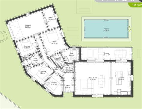 plan maison plain pied 1 chambre plan de maison plain pied 4 chambres bureau segu maison