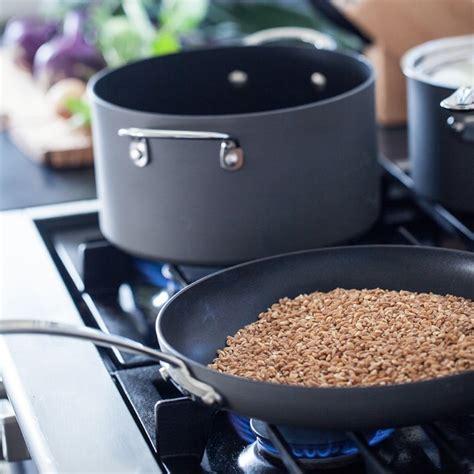 williams sonoma signature hard anodized copper core dishwasher safe  piece cookware set