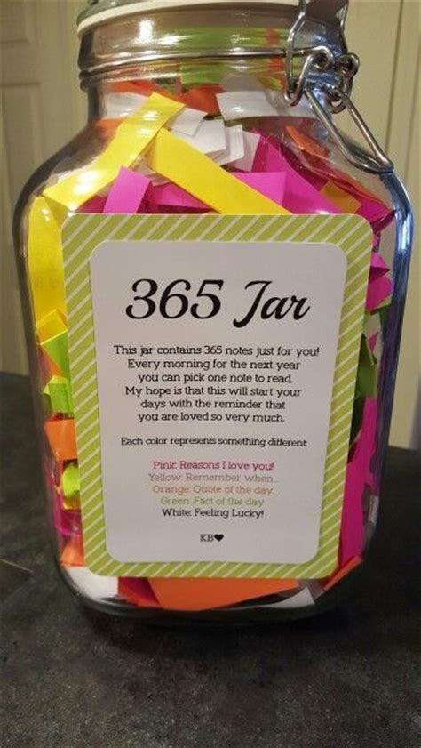 jar  note  day   days great gift