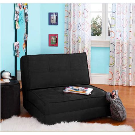 new black fold flip out chair teen dorm convertible