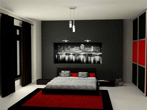 black and red bedroom interior design home pleasant