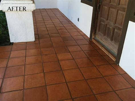 saltillo tile sealer outdoor saltillo stripping staining and sealing san diego