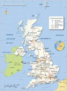 Political Map Of The United Kingdom