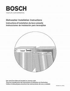 Bosch Appliances Dishwasher Shy660 User Guide
