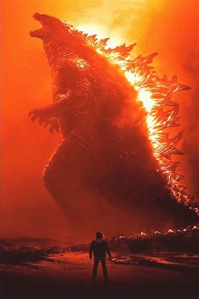 Godzilla Monsters King 4k Wallpapers Burning Fire