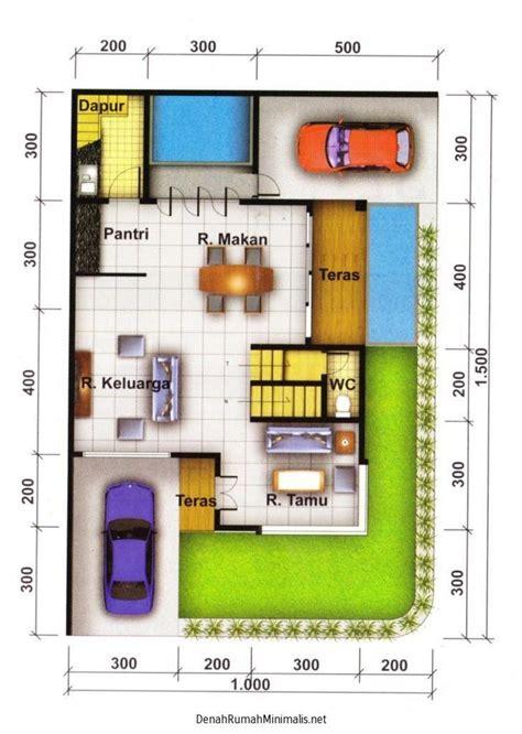 denah rumah minimalis type  hook