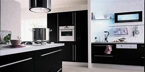 cuisine hygena noir et blanc With modele cuisine noir et blanc