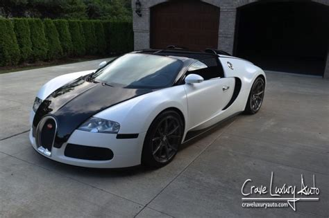 Eye-catching Black And White Bugatti Veyron For Sale In