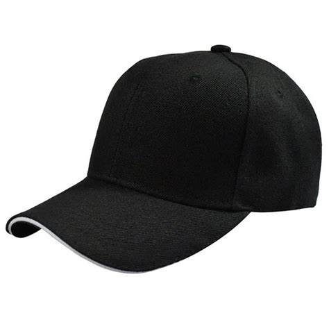 topi baseball polos black with white side
