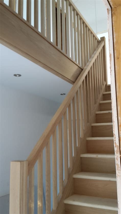oak staircase with stop chher spindles bartlett