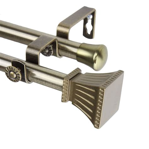 Curtain Hardware by Rod Desyne Trumpet Curtain Rod And Hardware Set