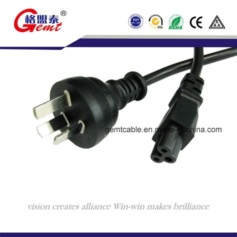 china australia 3 flat pin power cord with connector