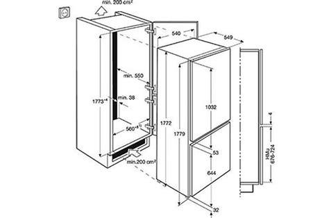 hauteur placard haut cuisine meuble refrigerateur congelateur encastrable