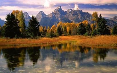 Desktop Fall Mountain Scenery Autumn Morning Backgrounds