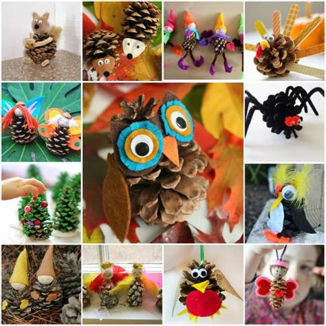 diy pinecone crafts skip   lou