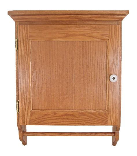 solid oak bathroom cabinet with door wall mount luxcraft