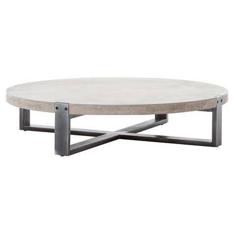 low modern coffee table frantz loft modern grey concrete low round coffee table