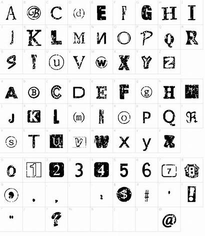 Font Ransom Note Distressed Fonts