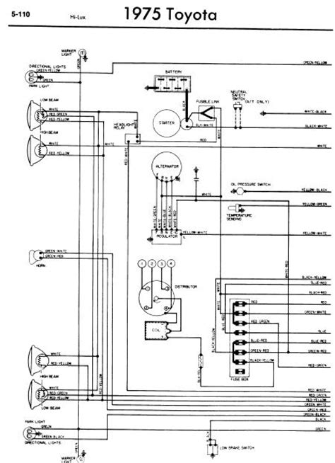 1988 Ranger Instrument Cluster Wiring Diagram Pinout The by Repair Manuals Toyota Hilux 1975 Wiring Diagrams