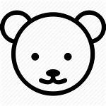 Bear Icon Cartoon Animated Nose Claw Ear
