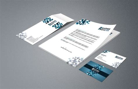 8 5x 11 business card template psd business card letterhead envelope template mockup free