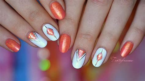 Nail Art Géométrique Facile Pour Débutants En Gel Foil
