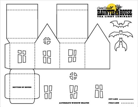 haunted house template crafts haunted house luminary treat box templates crafts ideas crafts for