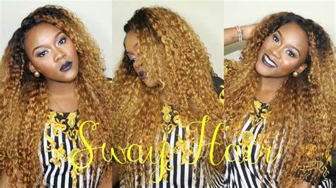 curly golden locks  sway hair brazilian deep curly youtube