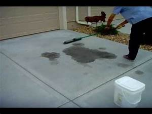 Muriatic acid removing a rust stain from concrete 1 doovi for How to remove rust stains from concrete floor