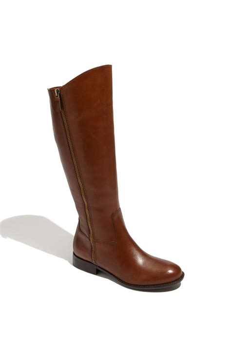 franco sarto rocket boot brown camel calf lyst