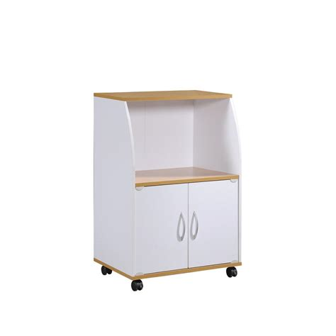 Home Depot Microwave Stand by Hodedah White Microwave Cart Hik74 White The Home Depot
