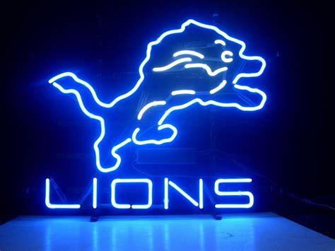 neon bar lights nfl detroit lions football bar neon light sign