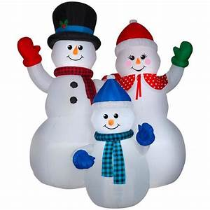 3 Ft Lighted Snowman Gemmy 10 0065 Ft Lighted Snowman Christmas Inflatable At