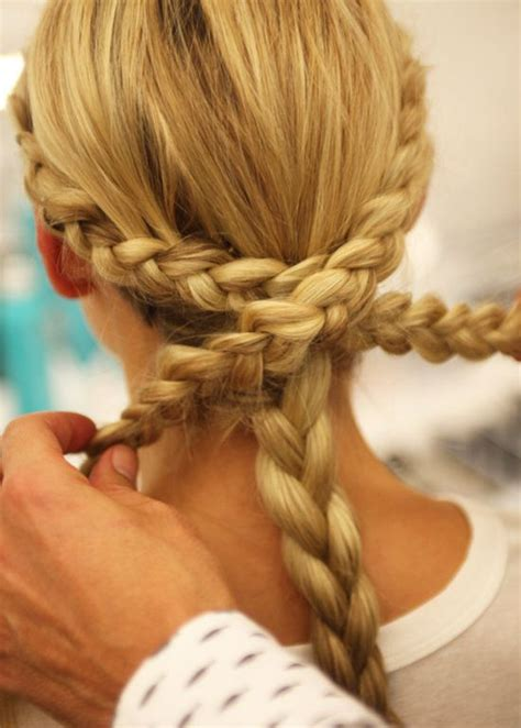 from the runway a braided chignon you can do yourself