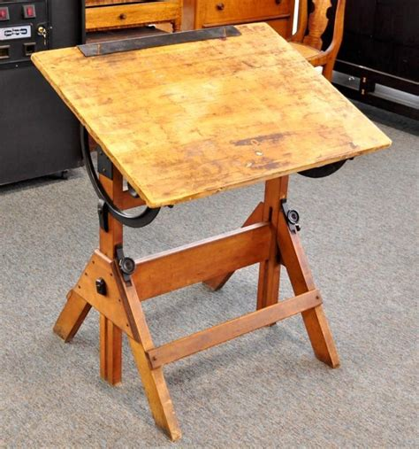 antique drafting table for sale antique hamilton economy drafting table wood cast iron