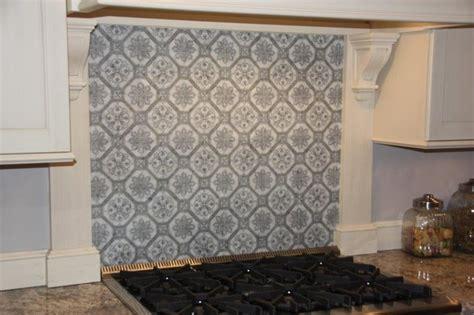 decorative stone backsplash transitional kitchen