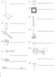 Science Lab Equipment Worksheet