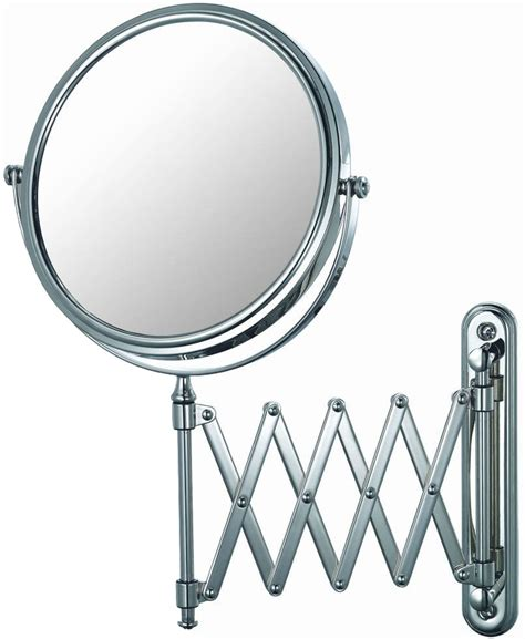 Extending Bathroom Mirrors by Extendable Wall Mirror Chrome In Wall Mirrors