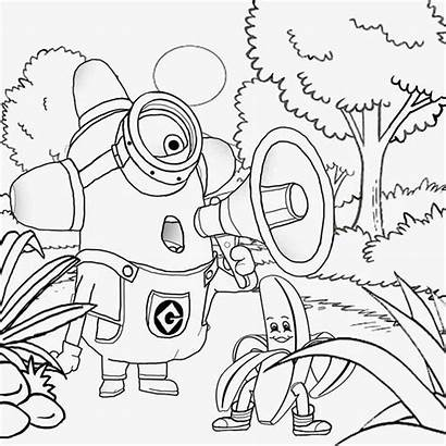 Coloring Pages Minion Minions Printable