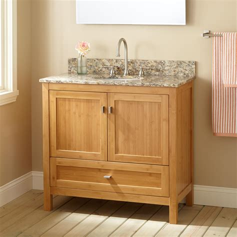 What Is A Bathroom Vanity by 36 Quot Narrow Depth Alcott Bamboo Vanity For Undermount